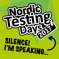 I'm speaking at Nordic Testing Days 2017